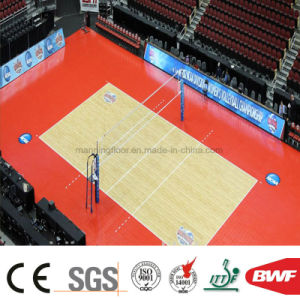 8mm High Quality Wearable Soft Red Volleyball PVC Vinyl Floor pictures & photos