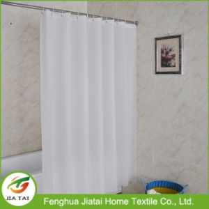 Custom Simple Style Contemporary Polyester White Shower Curtain pictures & photos
