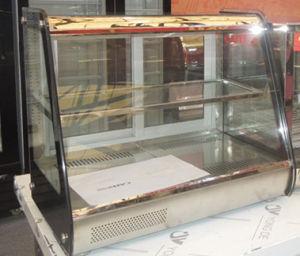 Mini Warm Dessert Display Case Counter Top Mini Showcase Glass Door Warmer pictures & photos