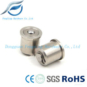 Stainless Steel Press-Fit Spring Plunger with Ball Roller