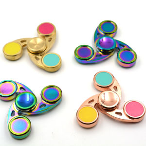 Rose Gold Cyclone Fidget Hand Spinner Zinc Alloy Fingertip Gyroscope pictures & photos