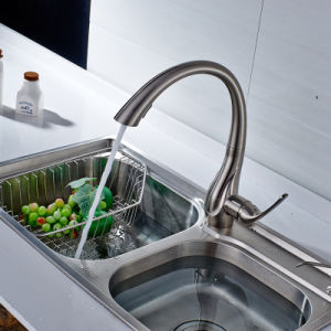 Nickel Brushed Brass Kitchen Basin Water Tap pictures & photos