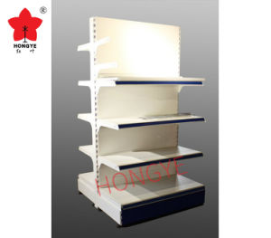 Retail Convenient Shop Double Side Gondola Supermarket Shelf (HY-102) pictures & photos