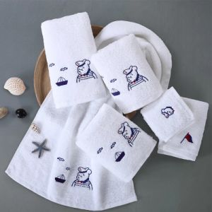 Hotel Supply Cotton Embroidery Towel Set pictures & photos