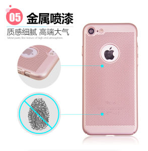 Perfect Fit Ultra Thin Mesh Heat Radiation Hard PC Back Phone Case for iPhone 6 pictures & photos
