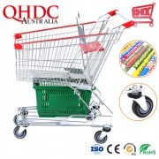 Asian Type Zinc Plated Sneaker Cart Spanish Metal Shopping Trolley Prices Cheap Special Trollys for Supermarket