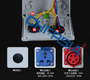 Distribution Box Power Socket Enclosure for Electrical Motor Bike Car pictures & photos