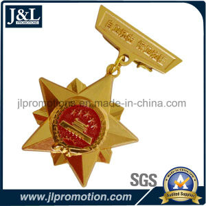 High Quality Copper Military Army Medals Shiny Gold Plating pictures & photos