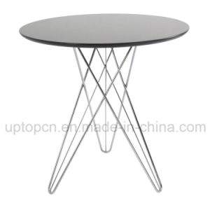 Round Powder Coated Restaurant Table with Chrome Steel Legs (SP-GT142) pictures & photos