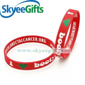 Promotion Item Eco-Friendly Silicone Wristband with Debossed Color pictures & photos