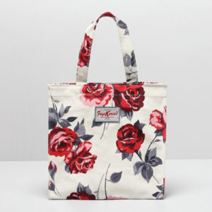 Small Size Red Rose Canvas Tote Bag (2293-21)