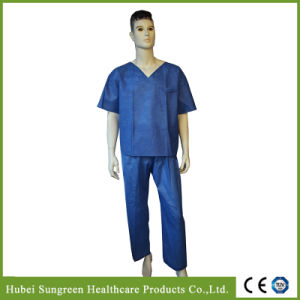 Disposable SMS Scrub Suit, Neck with No Binding pictures & photos