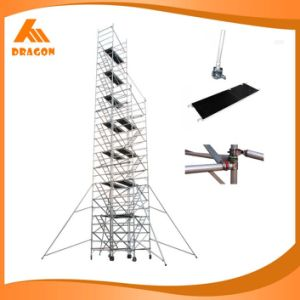 High Protected Painted Ladder Frame Scaffolding Double Width Step-Stair Scaffold pictures & photos
