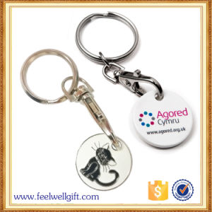 Zinc Alloy Coin Keychain with Customer 3D Logo Engraving pictures & photos