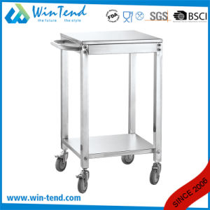New Designed Stainless Steel Dish and Plates Collecting Trolley with Extra Handle pictures & photos