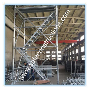 Safe Ce Approved Steel Ringlock Scaffolding for Construction. pictures & photos