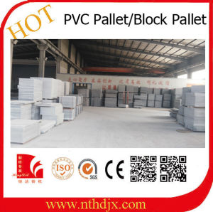 China Factory Produce PVC Plastic Pallet for Block Machine pictures & photos
