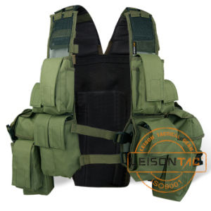 Military Tactical Vest with Heavy Duty Magic Tape and Webbing pictures & photos