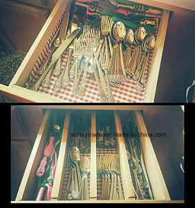 Bamboo Kitchen Drawer Dividers Adjusted From 22 to 17 Inches pictures & photos