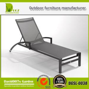 Aluminium Textilene Sling Sun Lounger, Garden Chaise Lounge, Sun Bed