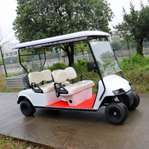 New Model Electric Transport Golf Cart with Rear Cargo Box pictures & photos