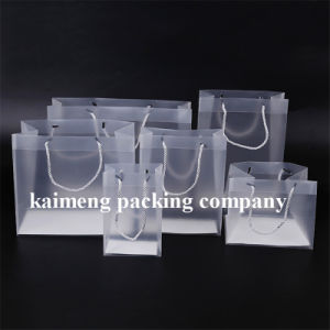 Gift Promotion Plastic Folding Clear PP Bags with Handle (clear PP bags) pictures & photos