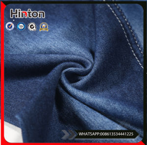 Knit High Quality Lycra Cotton Jeans Denim Fabric pictures & photos