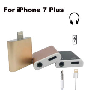iPhone7 Lightning to 3.5mm Earphone with Charger Adapter pictures & photos