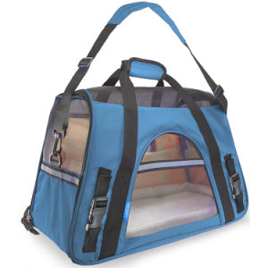 Airline Approved Pet Carriers W/ Fleece Bed for Dog & Cat Indoor/Outdoor Pet Home, Deluxe Pet Carrier pictures & photos