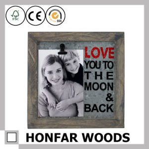Personalized Rustic Wood Picture Frame for Wall Decoration pictures & photos
