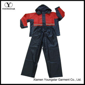 PVC Coated Waterproof Rainsuit / Rain Suit for Outdoor Travel pictures & photos