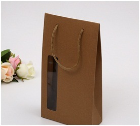 Brown Kraft Paper Bag Promotion Fancy Shopping Paper Bags