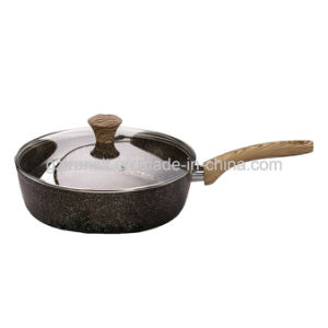 Forged Aluminum Pots and Pans with Wood-Look Handles pictures & photos