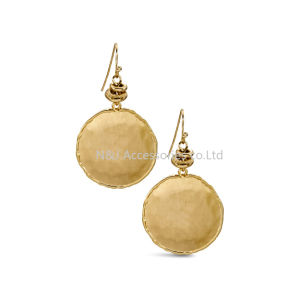 Gold Plated Round Earrings Fashion Jewelry for Women Alloy Stud Earring Women Gift pictures & photos