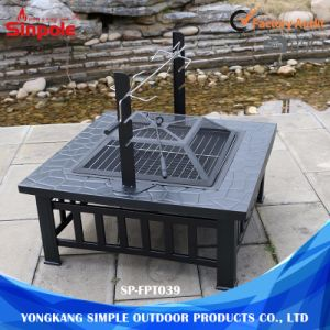 Multifunctional Outdoor BBQ Grilling Table and Fire Pit with Steel Frame pictures & photos
