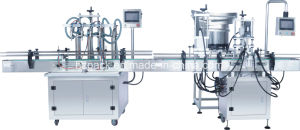 Linear Capper+4 Heads Liquid Filler/Liquid Filling Machine From China pictures & photos