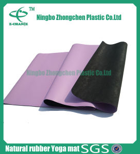 PU Leather Nature Rubber Yoga Mat Premium Rubber Yoga Mat pictures & photos
