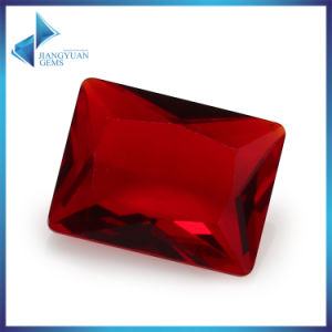 Retangle Red Glass Stone for Jewelry Making pictures & photos