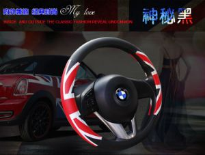 Hotsales Promotional PU Leather Car Steering Wheel Cover Sleeve Accessories pictures & photos