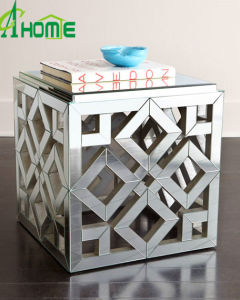 Handcraft Square MDF Table Mini Glass Coffee Table pictures & photos