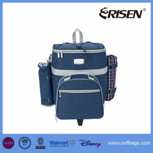 Rolling Detachable Picnic Food Cooler Bag for 4 Person pictures & photos