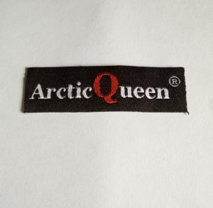 Straight Cut Damask Clothing Woven Label pictures & photos
