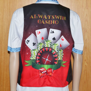 Custom Waitor′s Work Vest /Waitress′s Workwear for Casino pictures & photos