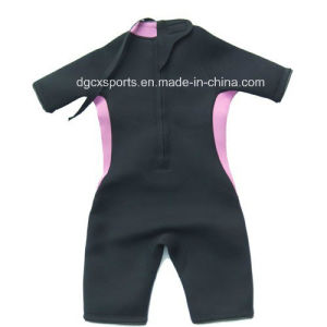 Kids Shorty Back Zipper Neoprene Wetsuit pictures & photos
