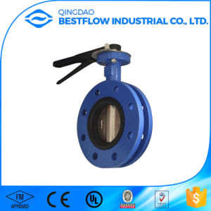 Double Eccentric Flange Butterfly Valve Ductile Iron Pn16 pictures & photos