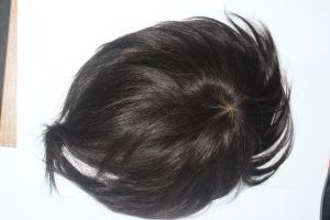 Indian Human Hair Thin Skin Toupee for Men pictures & photos