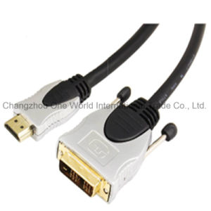 Metal Assembly HDMI 19pin Plug-DVI Plug Digital Cable pictures & photos