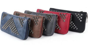 OEM Colorful Aimali PU Female Purse Wallet with Zipper pictures & photos