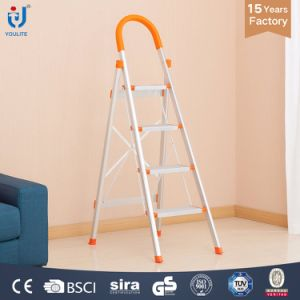 4 Step En131 Approved High Quality Household Foldable Aluminium Ladder pictures & photos