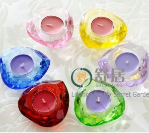 Heart Shape Tea Light Crystal Candle Holder for Home Goods pictures & photos